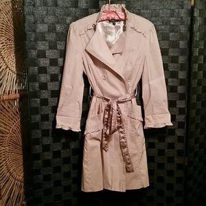 BeBe Trench Coat NWOT, Beige, XS, Never worn